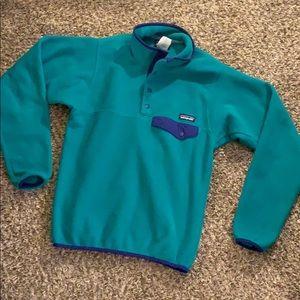 Green fleece PATAGONIA Pullover Jacket XS